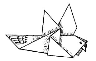 Оригами для детей - Голубь