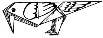 Оригами для детей - ворона