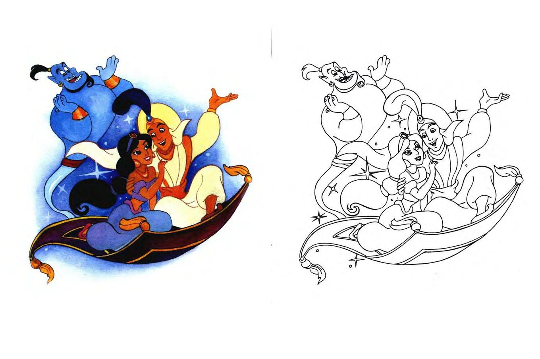 раскраска для детей герои зарубежных сказок развитие