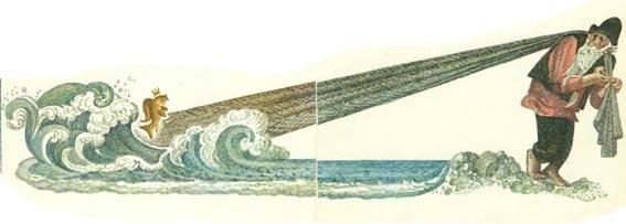 Детские сказки - сказка о рыбаке и рыбке