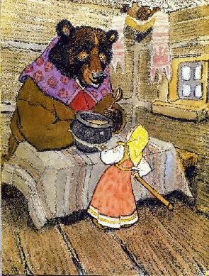 Сказка - маша и медведь
