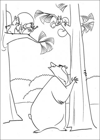 """Детские раскраски - раскраски из мультфильма """"Сезон охоты"""""""