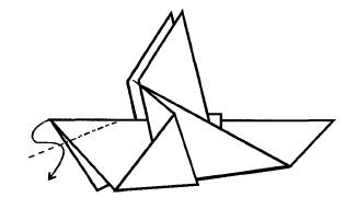 Оригами голубь.