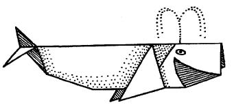 Оригами - кит