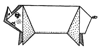 Оригами - свинка