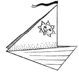 Оригами для детей - Яхта