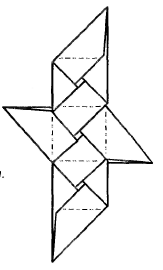 Оригами для детей - Кубик