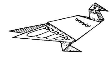 Оригами для детей - Фазан