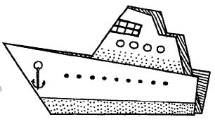 Оригами для детей Пароход