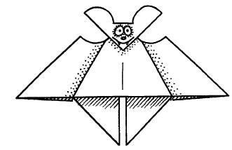 Оригами для детей Летучая мышь