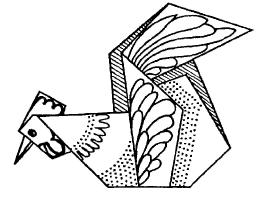 Оригами для детей Петух
