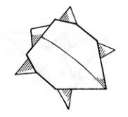 Оригами для детей Черепашка