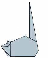 Оригами для детей Мышка