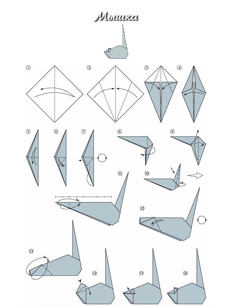 Оригами драконы схемы из модулей.