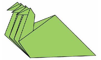 Оригами для детей Змей Горыныч