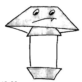 Гриб бледная поганка - Оригами для детей