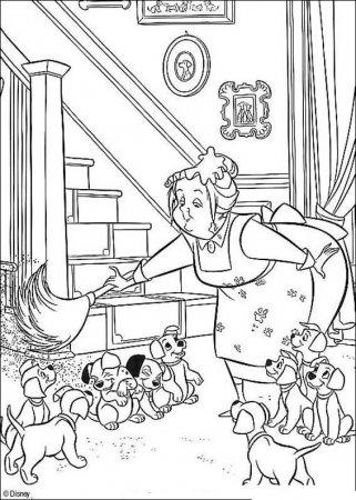 Раскраска для детей - 101 далматинец