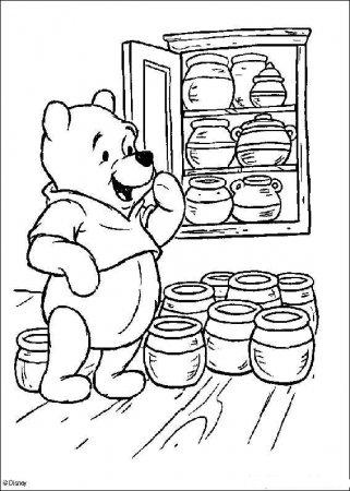 Раскраска для детей - Винни Пух