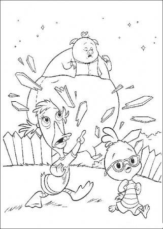 Раскраска для детей - цыпленок Цыпа
