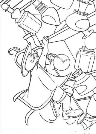 Раскраска для детей - Шрек