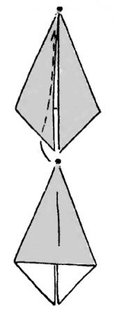 Летящий гусь - Оригами для детей
