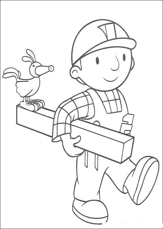 Раскраска для детей боб строитель