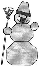 Оригами для детей Снеговик