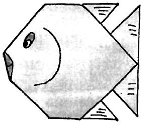 Оригами для детей Коралловая рыбка