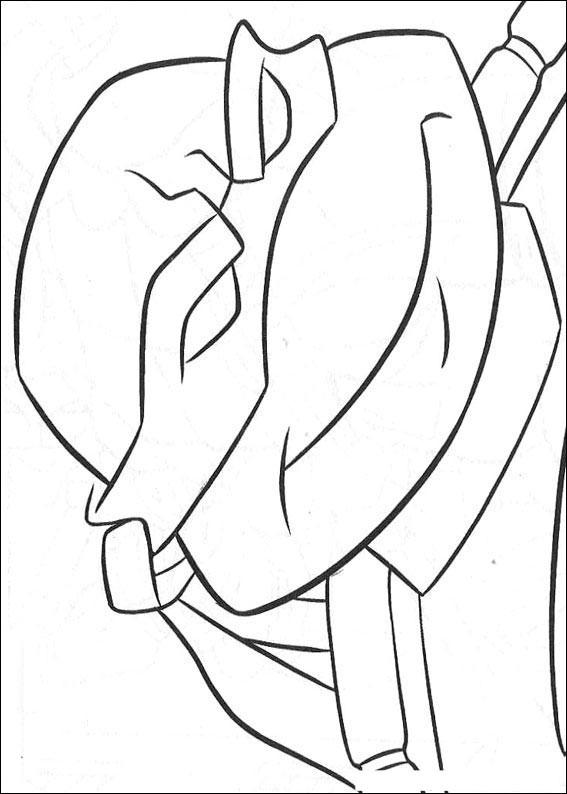 Раскраска для детей черепашки ниндзя