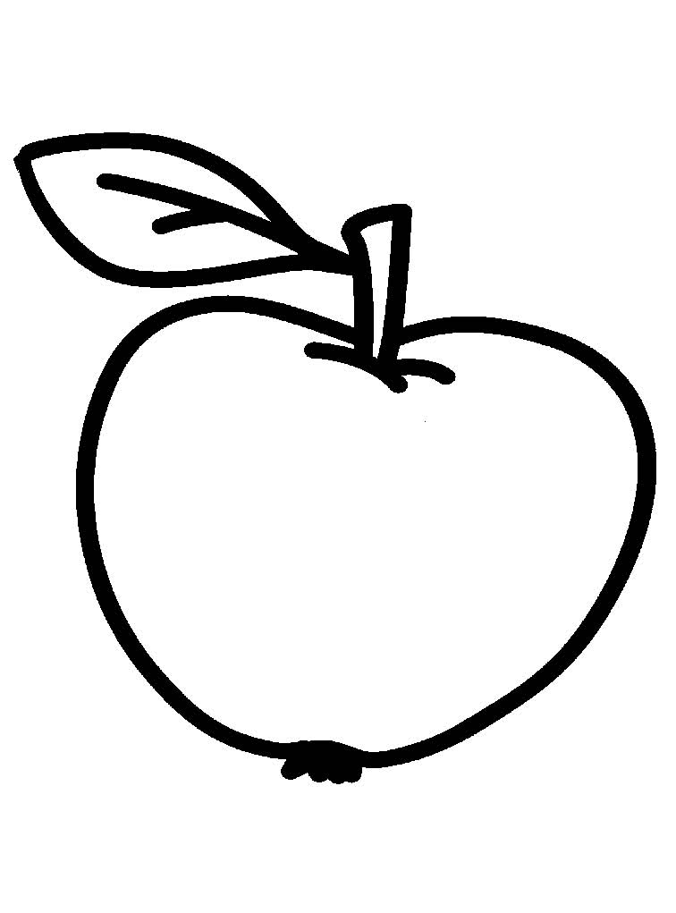 Раскраски яблоко для детей - 2