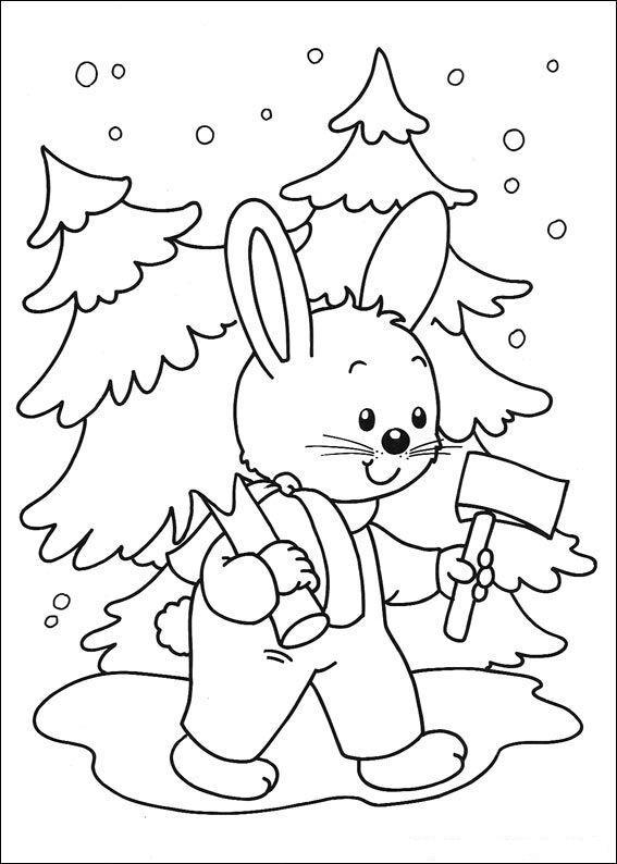 Раскраска новогодняя для малышей распечатать