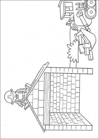 """Раскраска для детей """"Боб - строитель"""""""