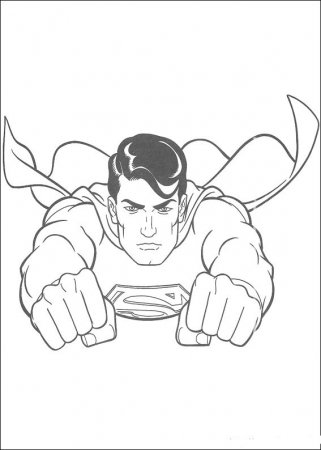 Раскраска для детей  - Супермен