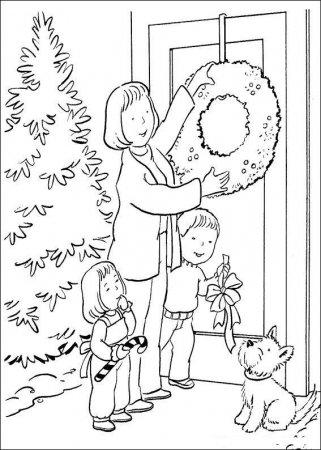 Раскраска для детей Новогодний вечер