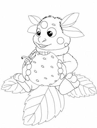 Раскраска для детей Лунтик