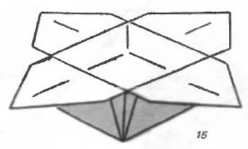 Коробка-цветок оригами
