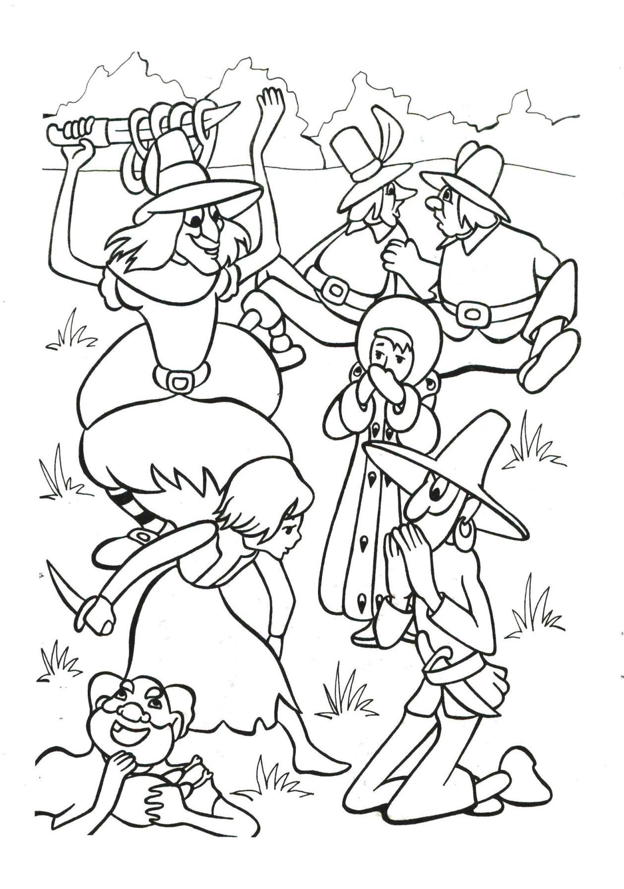 Сказка снежная королева картинки раскраска