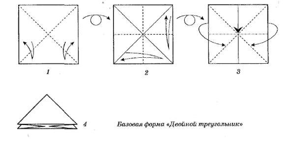 Схема треугольников оригами