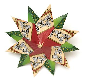 Прекрасная звезда оригами