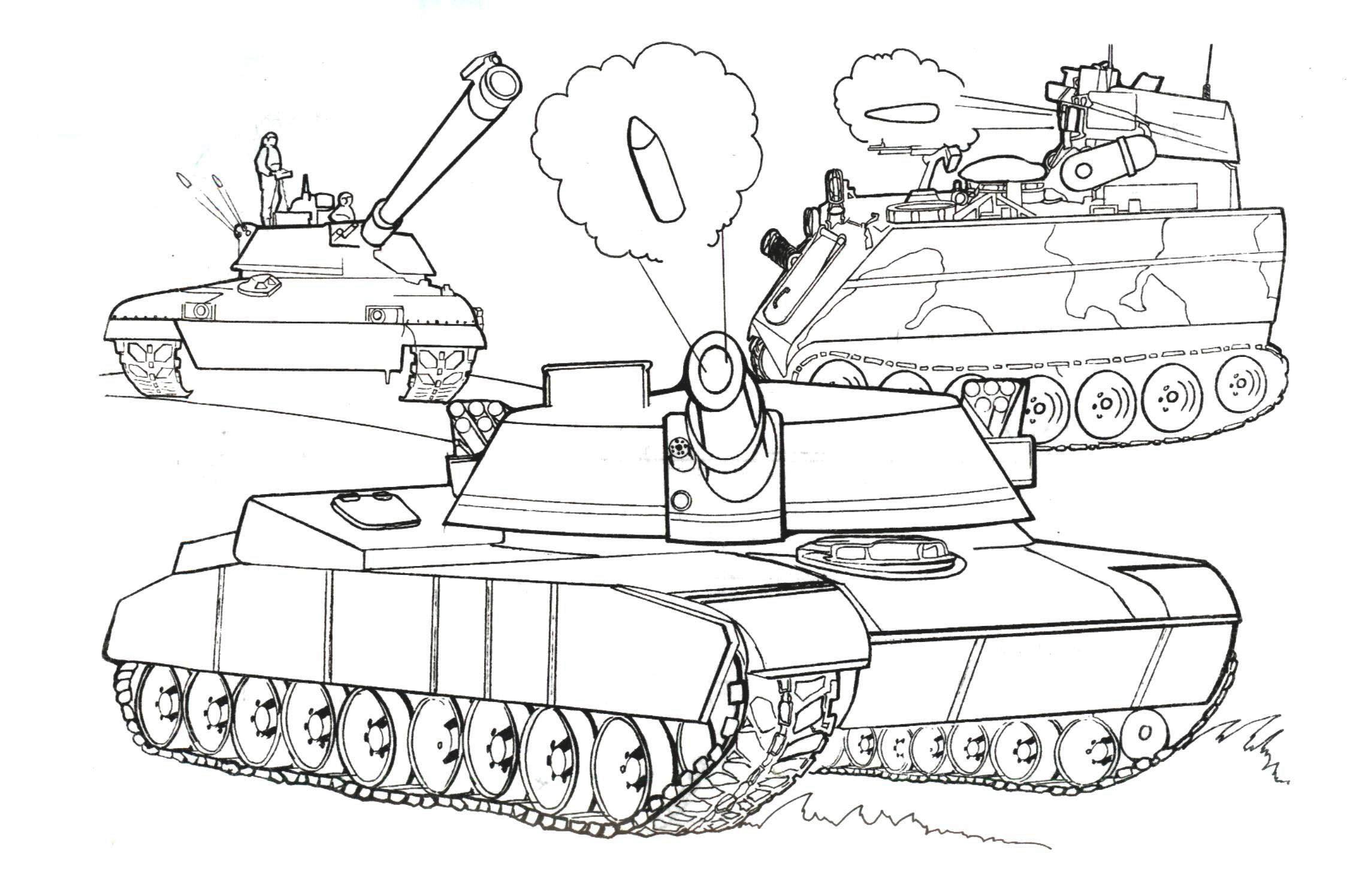 Игра раскраски для мальчиков танки