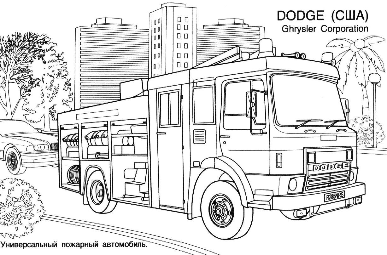 Dessin camion de pompier a imprimer - Dessin pompier a imprimer ...