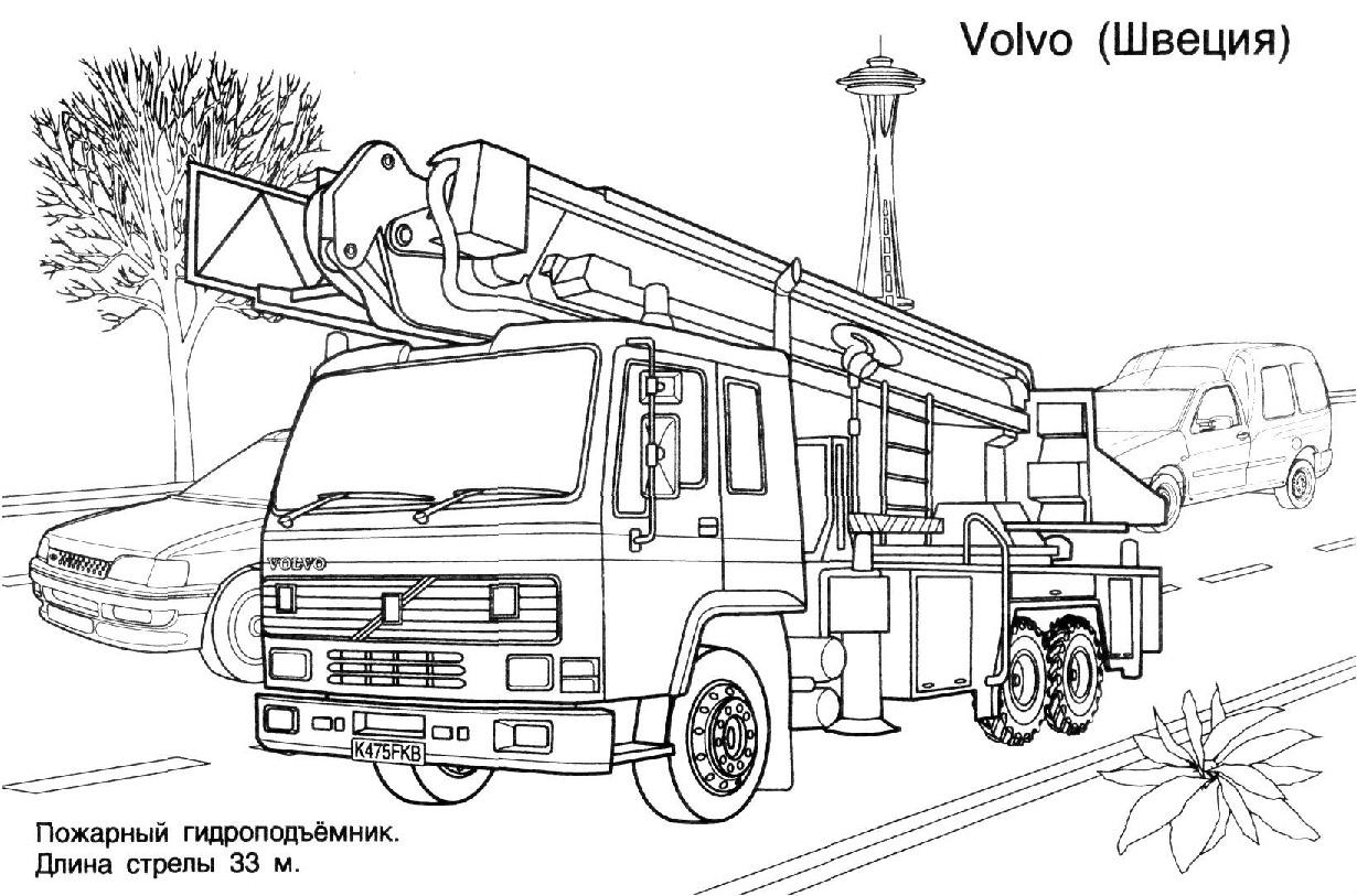 Dessin camion pompier - Dessiner un camion de pompier ...