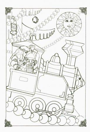 Детская симпатичная раскраска из мультфильма Щелкунчик