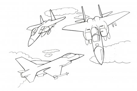 """Раскраска для детей """"Боевые самолеты, танки, вертолеты"""""""
