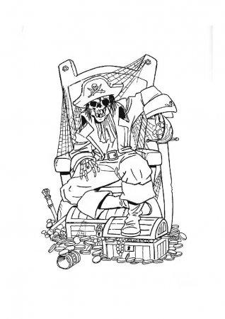 Детские раскраски - Пираты