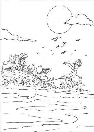 Детские раскраски - Дональд Дак