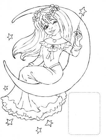 Детская раскраска фея