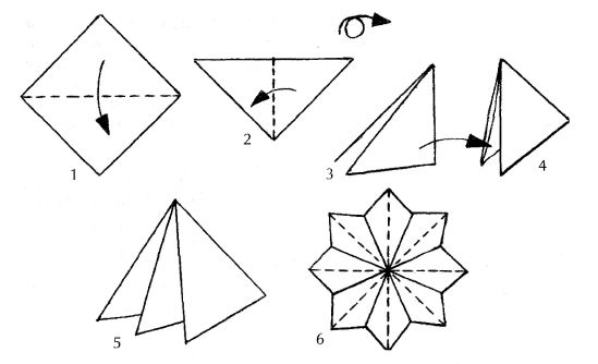 Схема оригами цветок Мечта