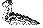 Оригами для детей - Змея