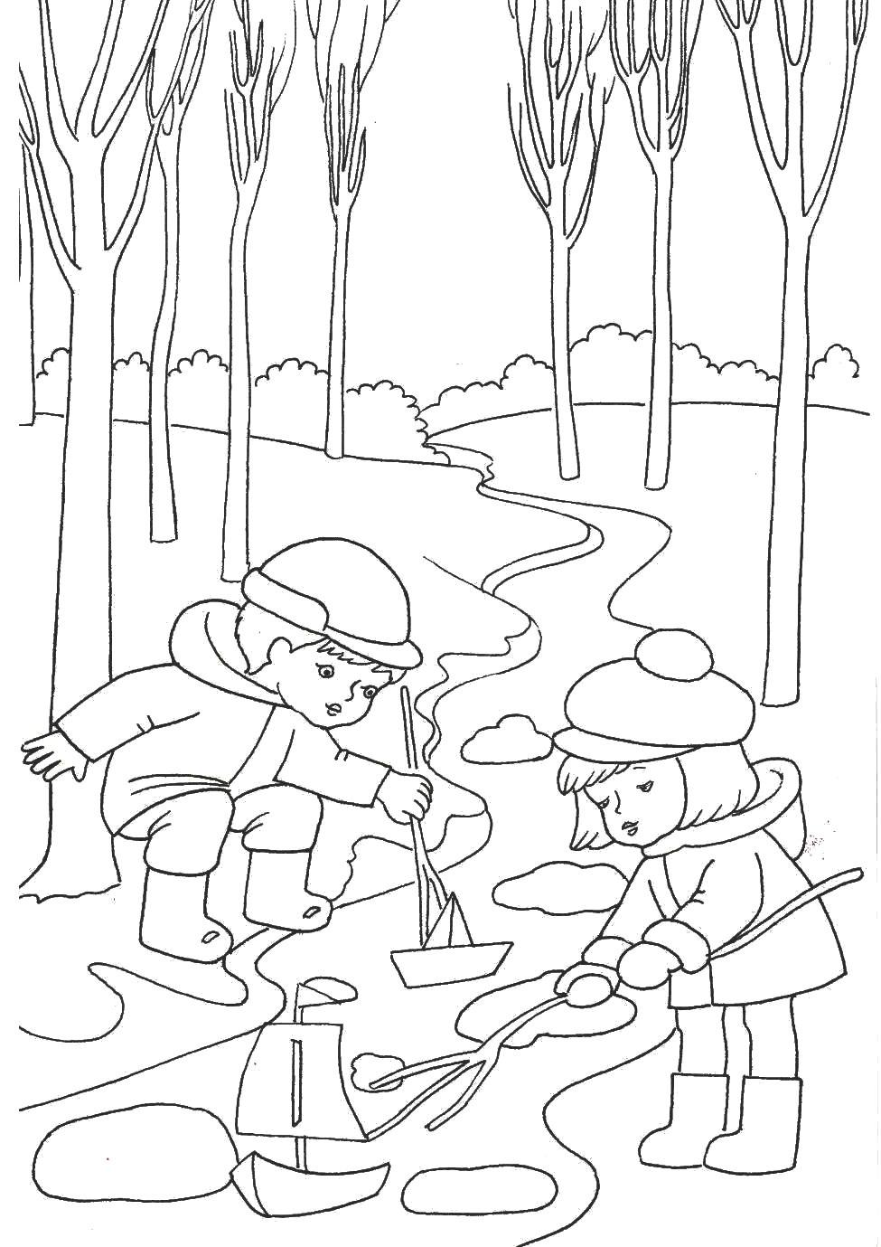 "Раскраска ""Весна пришла"" » Развитие детей. Оригами ..."